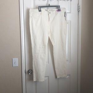 Mossimo denim stretchy skinny jeans size 16